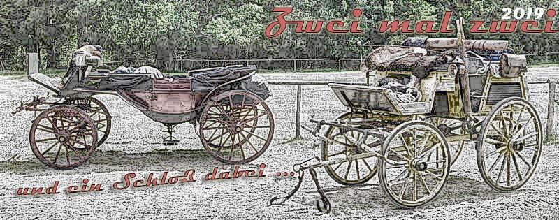 Historische Kutschen auf Reise