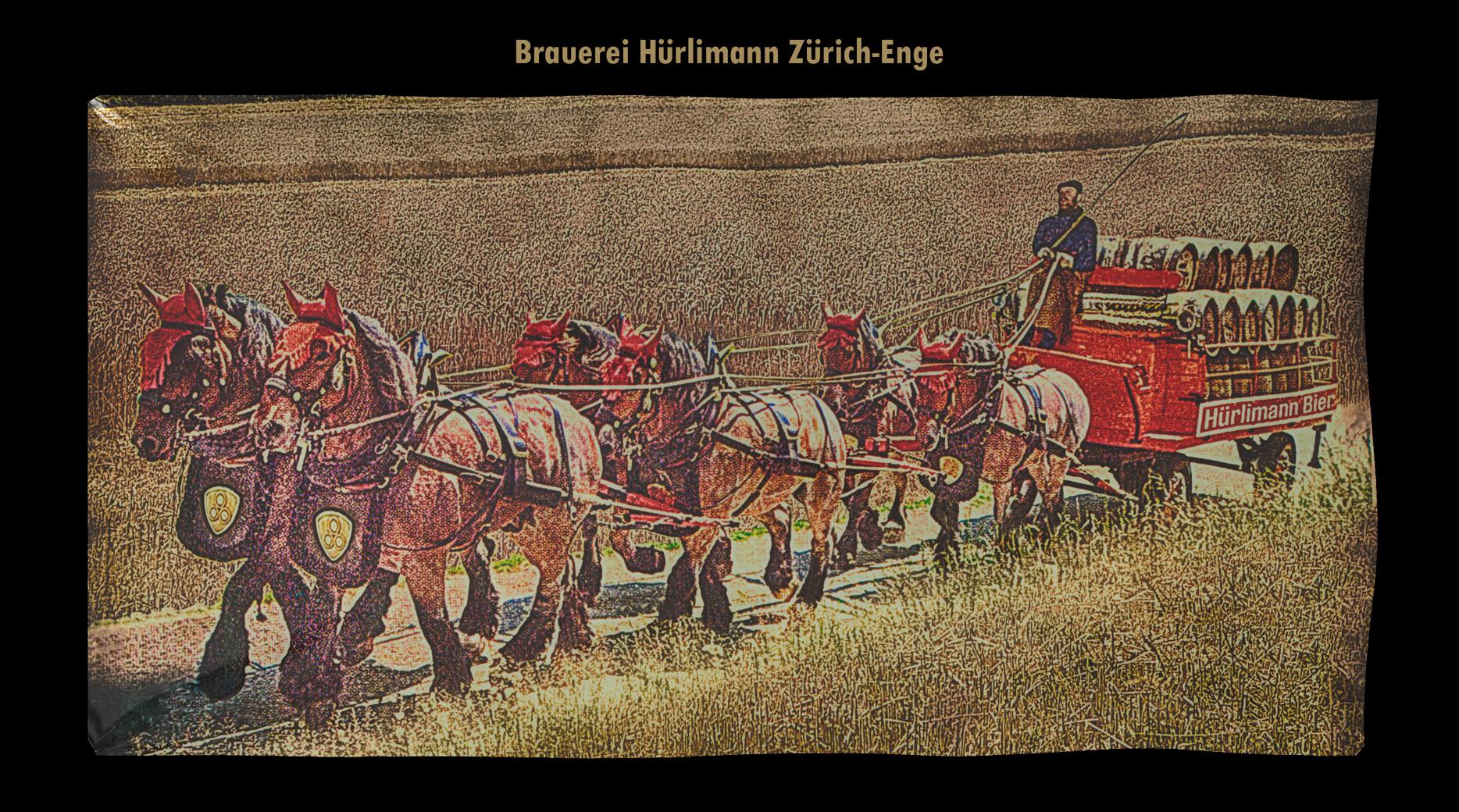 Sechsspänner, Sechsspännig, Schweizer Bier, Schweizer Brauerei, Hürlimann Areal, Hürlimann Bier, Bier Hürlimann, Zürcher, Hürlimann Pferde, Pferdekutscher,